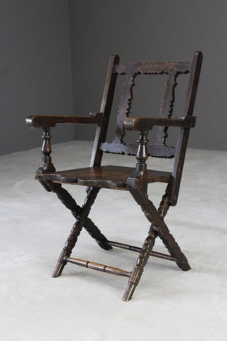 Rustic Oak Occasional Chair