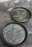 Pair Pressed Brass Dishes