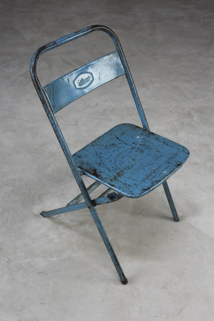 Single Retro Metal Folding Chair