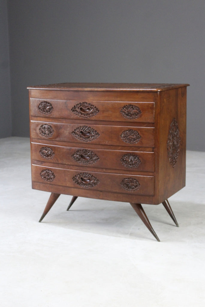 Carved Eastern Chest of Drawers