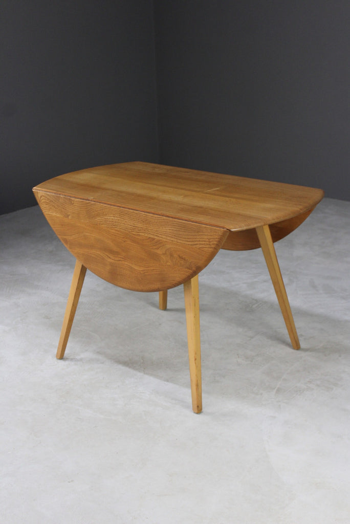 Vintage Ercol Drop Leaf Windsor Dining Table - Kernow Furniture