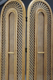 Retro Cane Folding Dressing Screen