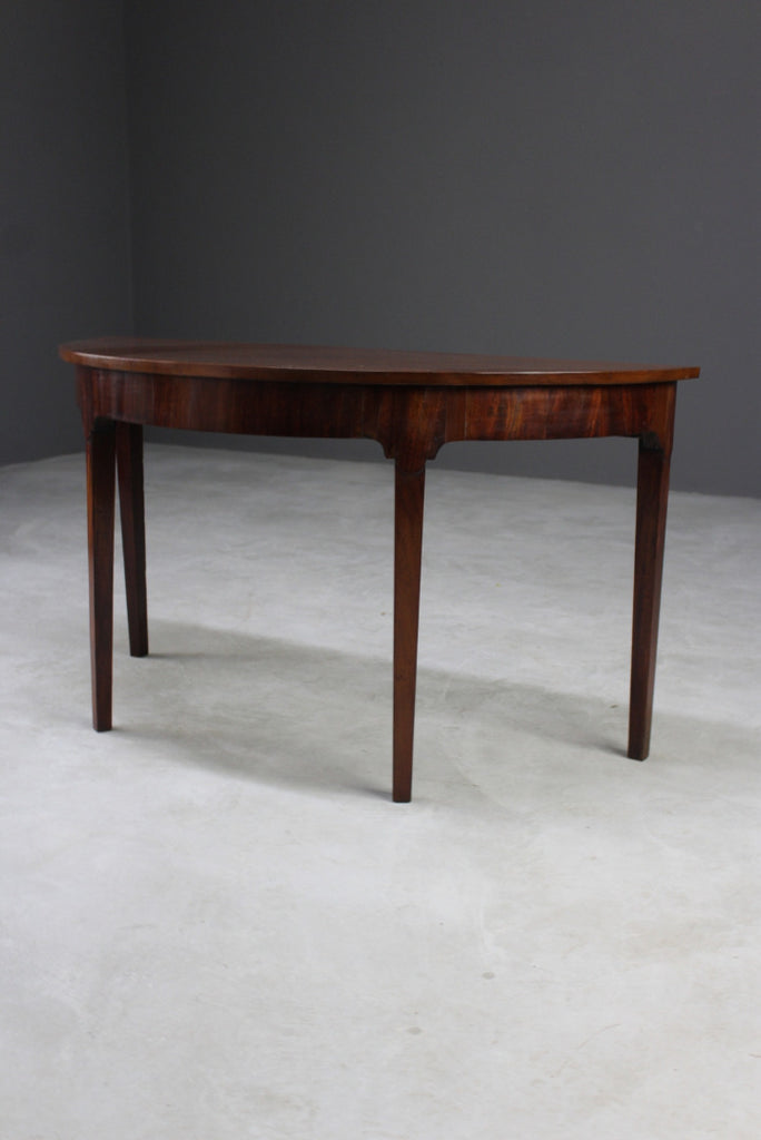 Antique Mahogany Demi Lune Side Table - Kernow Furniture