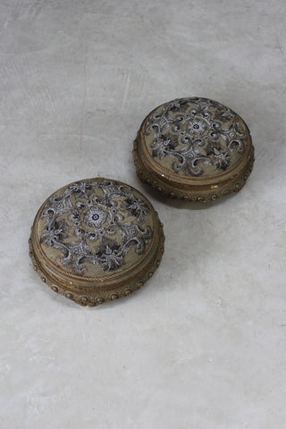 Pair Beaded Footstools