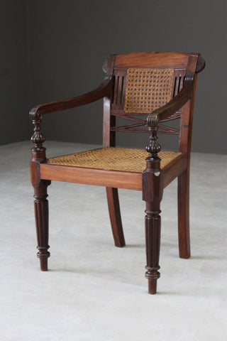 Anglo Indian Padouk Armchair
