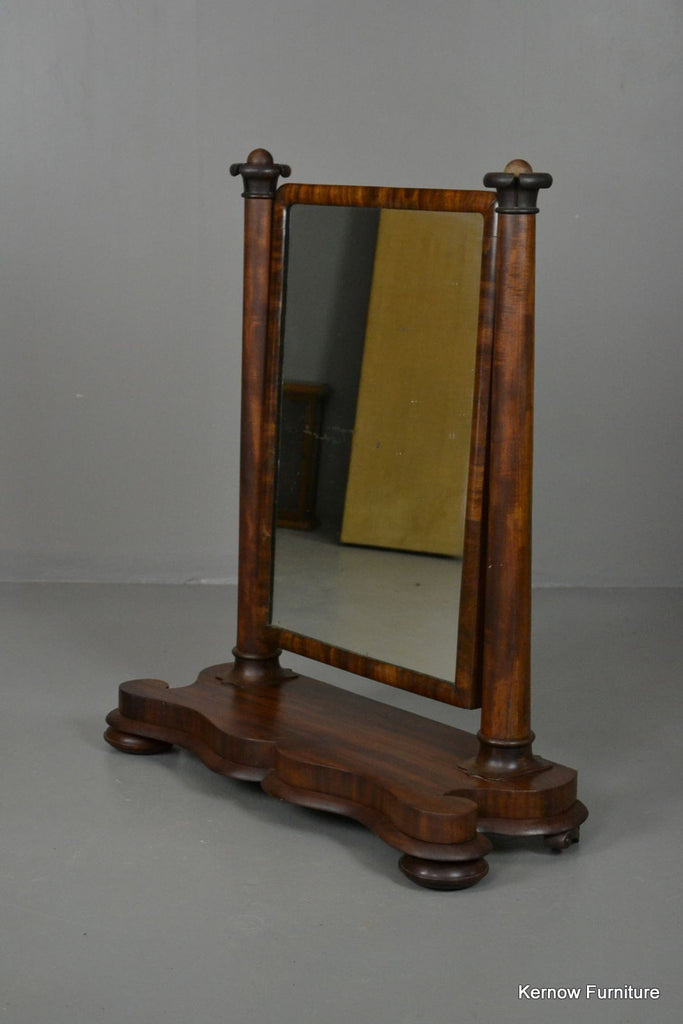 Antique Victorian Mahogany Large Dressing Toilet Swing Mirror - Kernow Furniture