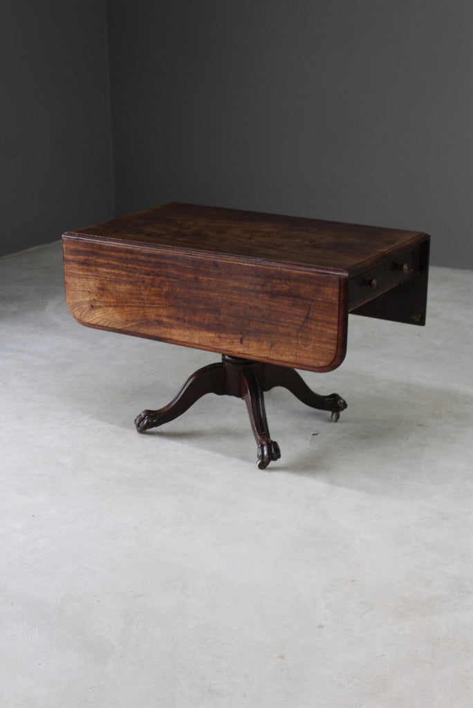 Antique Mahogany Drop Leaf Table - Kernow Furniture