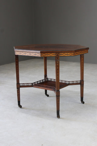 Victorian Aesthetic Movement Octagonal Centre Table
