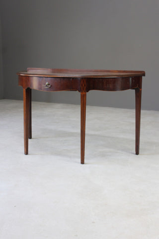 Antique Edwardian Mahogany Demi Lune Side Table - Kernow Furniture