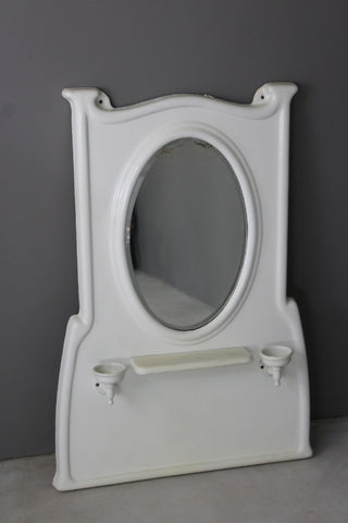 Cast Iron Enamelled Bathroom Vanity MirrorvCast Iron Enamelled Bathroom Vanity Mirror