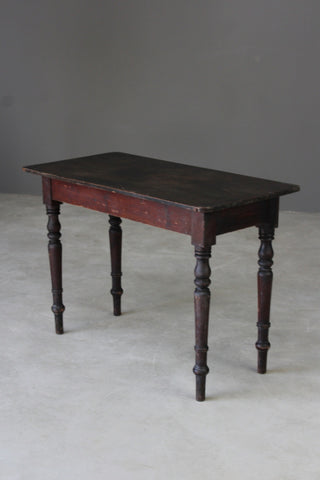 Rustic Stained Pine Side Table - Kernow Furniture