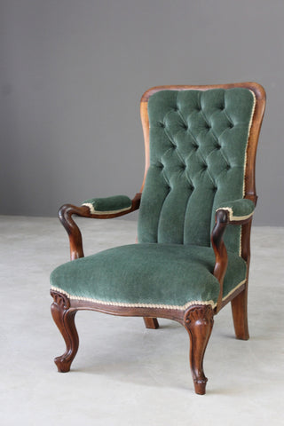 Antique Rosewood Upholstered Armchair