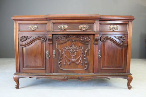 Antique Edwardian Walnut Sideboard