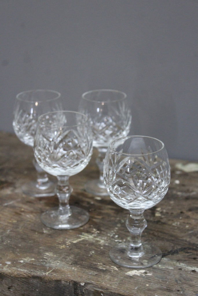4 Cut Glass Port Glasses