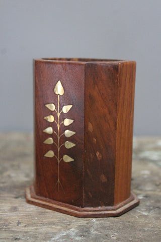 Eastern Wooden Pen Pot