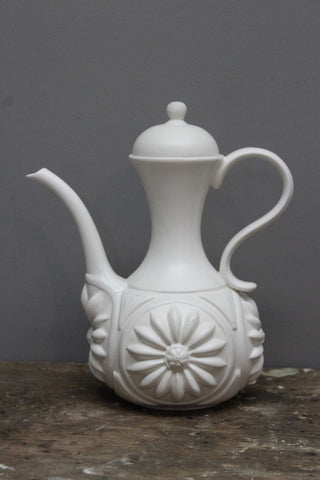 Retro White Coffee Pot