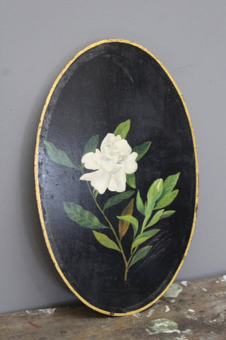 Handpainted Floral Plaque