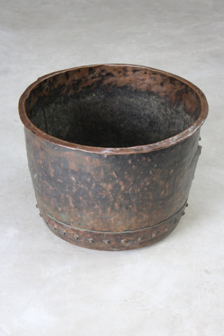 Antique Copper Log Bin