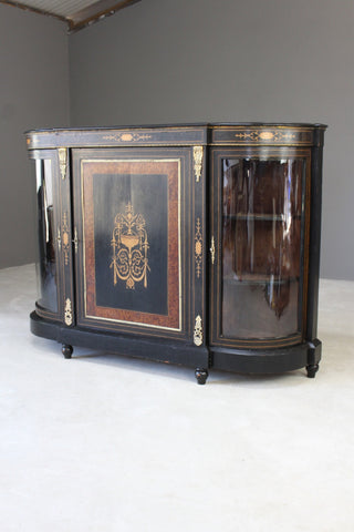 Antique Victorian Ebonised Credenza