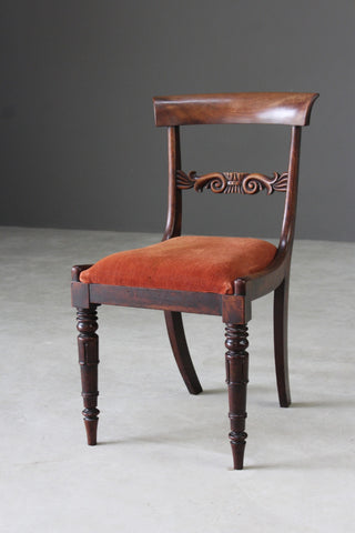 Single Antique Mahogany Dining Chair