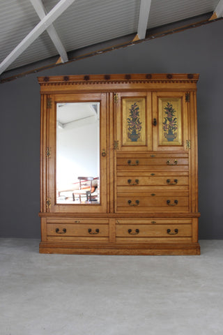 Antique Edwards & Roberts Ash Wardrobe