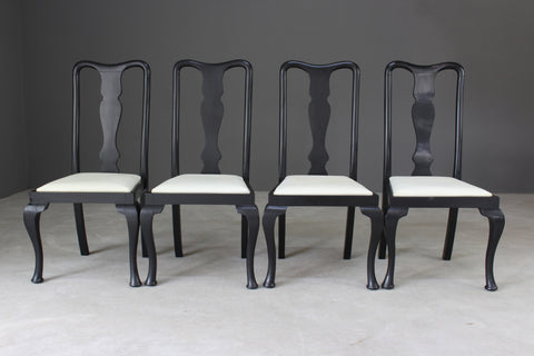 Set 4 Queen Anne Style Dining Chairs