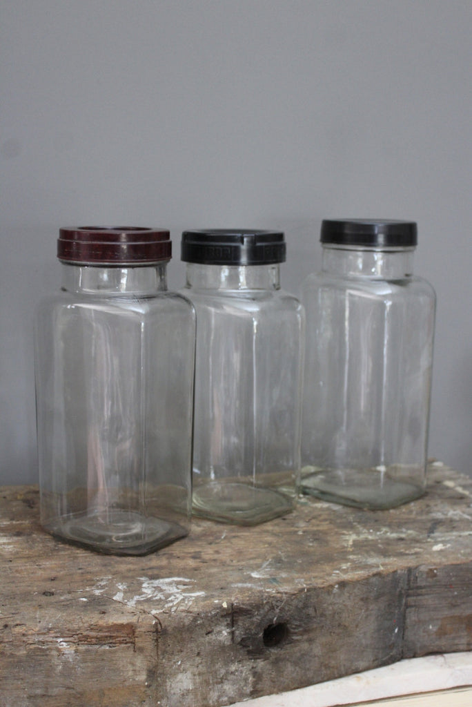 3 x Large Sweet Shop Glass Jar