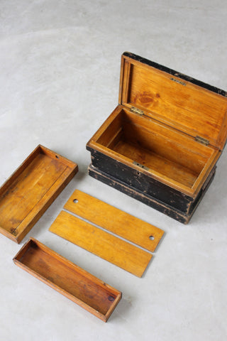 Stained Pine Writing Box