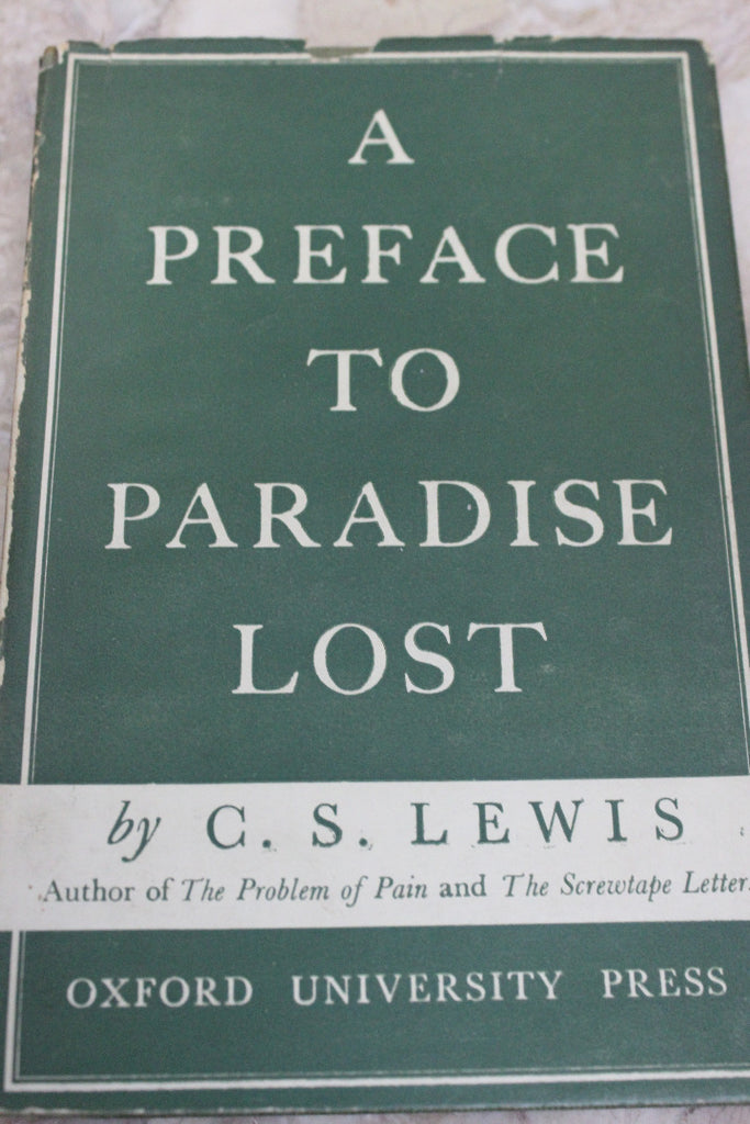 A Preface to Paradise Lost C.S Lewis - Kernow Furniture