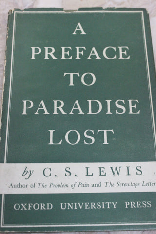 A Preface to Paradise Lost C.S Lewis