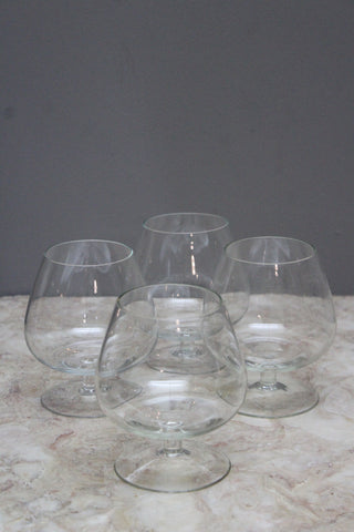 4 Brandy Balloon Glasses