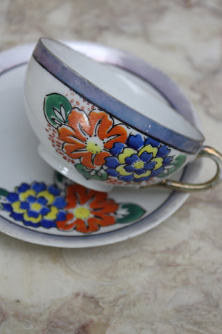 Vintage Japanese Cup & Saucer