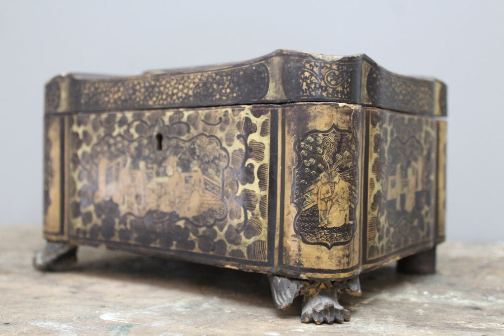 Chinese Black Lacquer Work Box