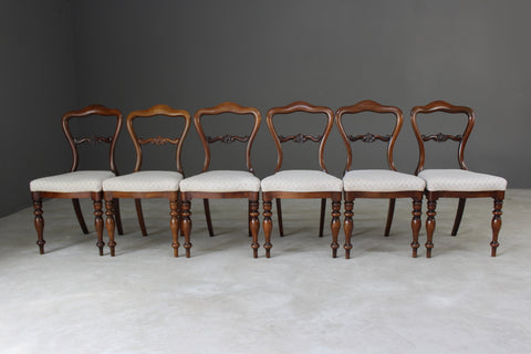 Set 6 Antique Rosewood Dining Chairs