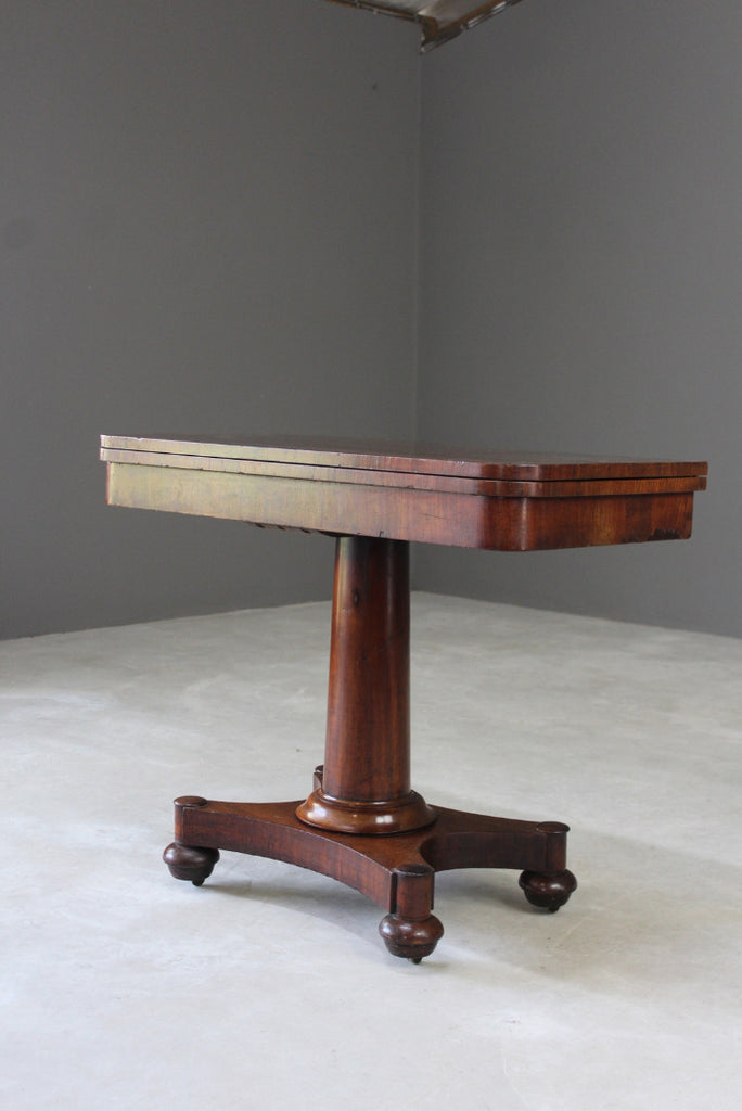 Antique Victorian Mahogany Games Table