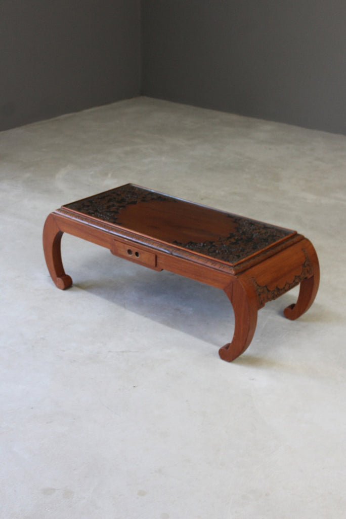 Carved Oriental Coffee Table