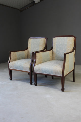 Pair Edwardian Armchairs