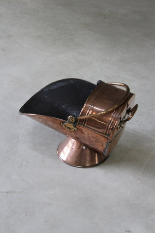 Copper Coal Scuttle - Kernow Furniture