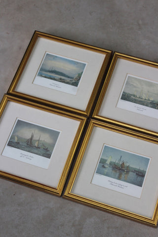 Set 4 Cornish Nautical Prints