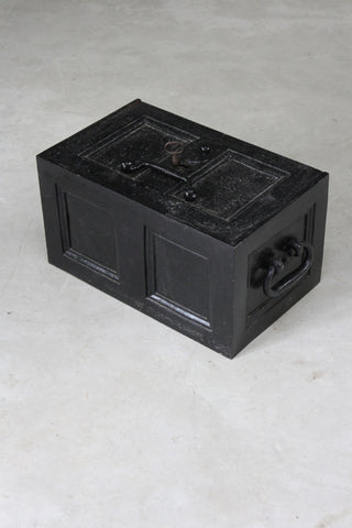 Large Antique Iron Strong Box Safe