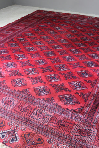 Large Dowlatabad Red Afghan Carpet
