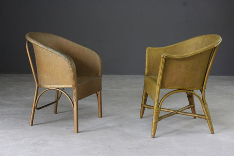 Pair Gold Bedroom Chairs