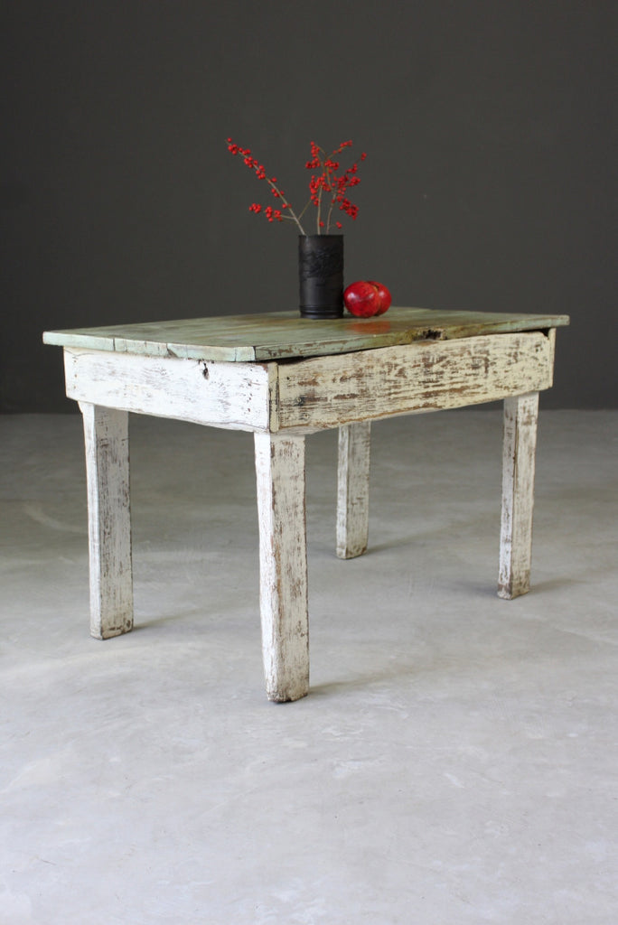 Rustic Painted Pine Occasional Coffee Bedside Table