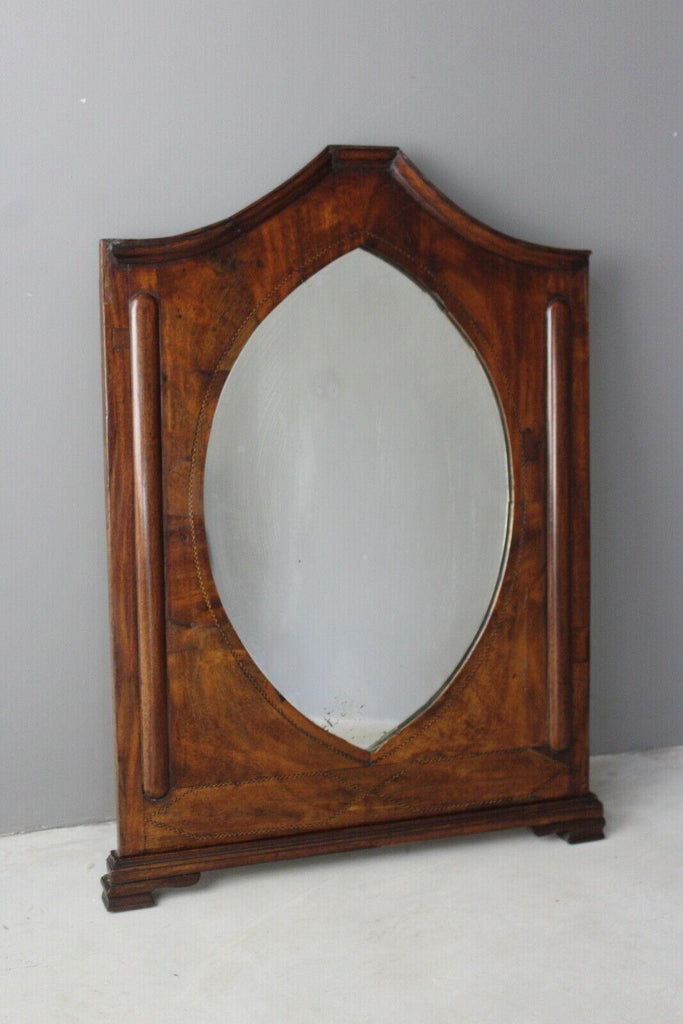 Antique Mahogany Wall Mirror - Kernow Furniture