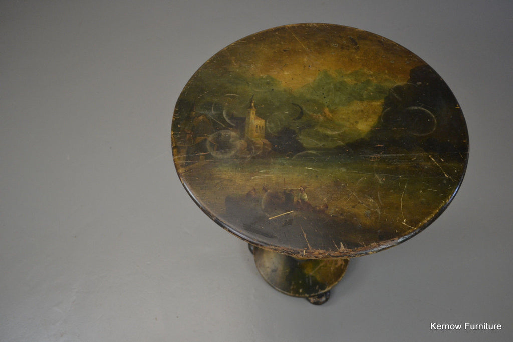 Victorian Hand Painted Occasional Table - Kernow Furniture - 1