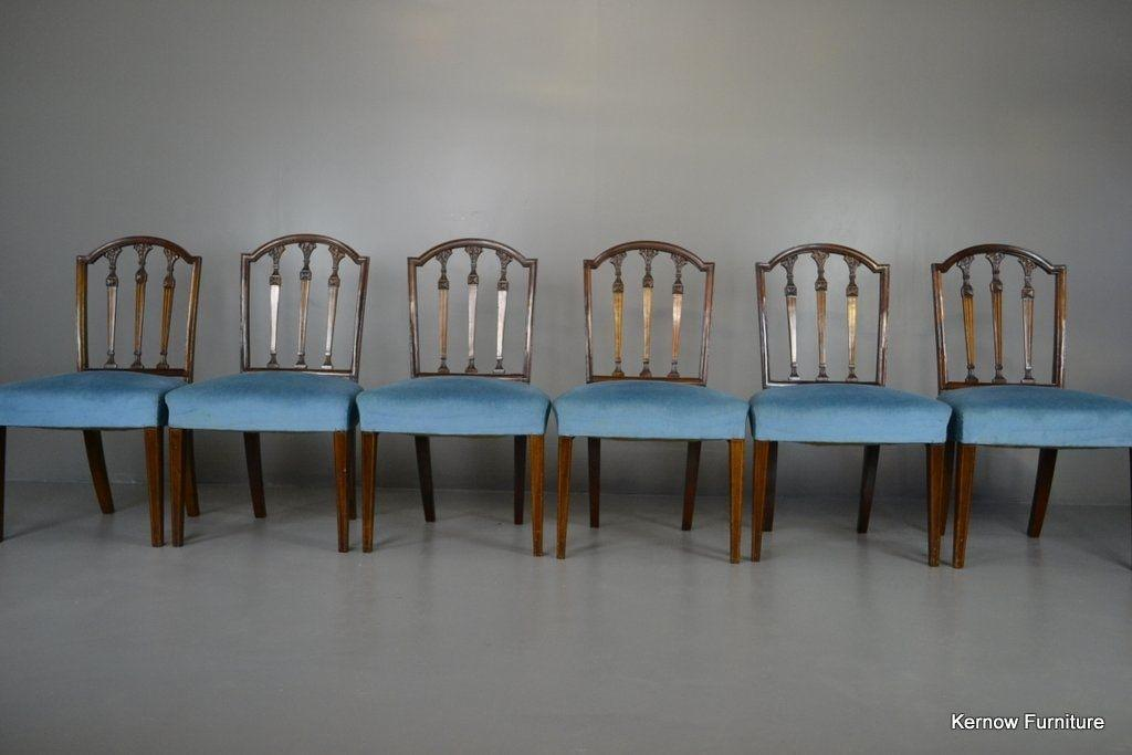 Set 6 Antique Style Mahogany Dining Chairs