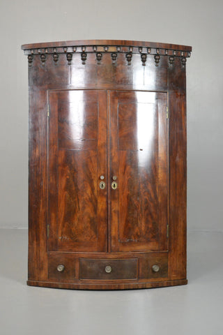 Antique 19th Century Mahogany Wall Corner Cabinet - Kernow Furniture 100s vintage, retro & antique items in stock