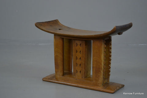 African Ashanti Asante Carved Wooden Stool - Kernow Furniture 100s vintage, retro & antique items in stock