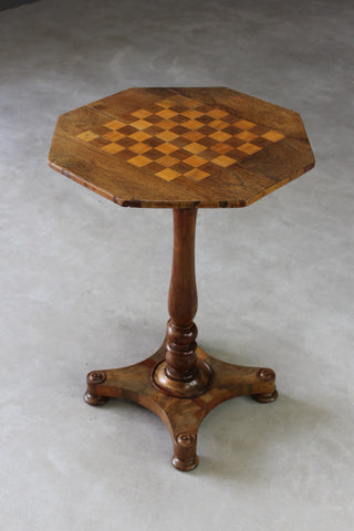 antique rosewood mahogany games chess table
