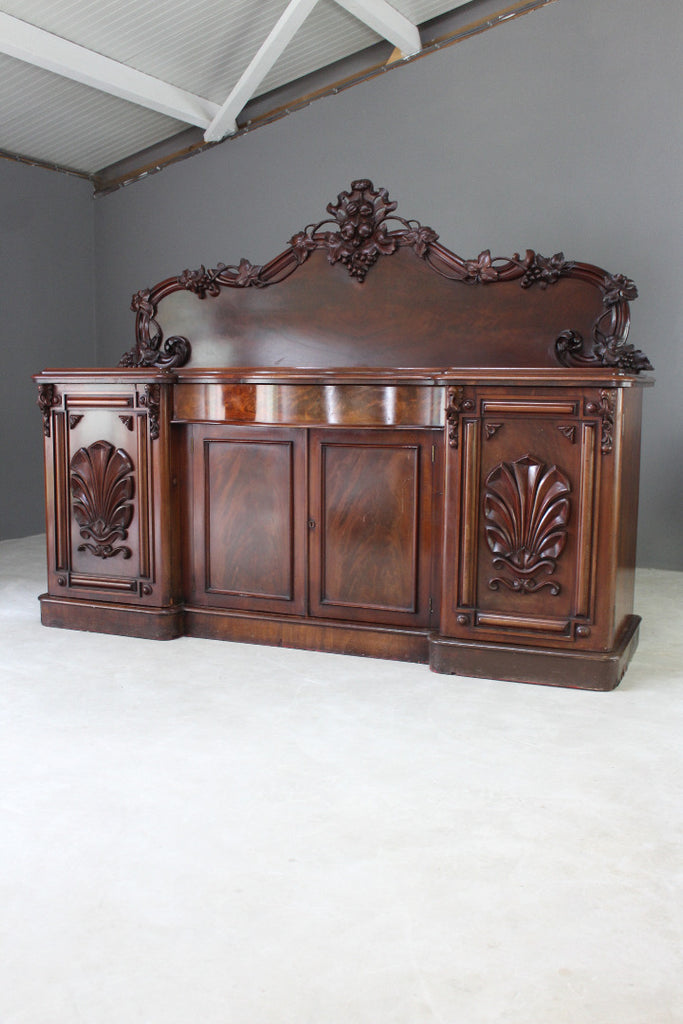 Large Antique Mahogany Sideboard - Kernow Furniture